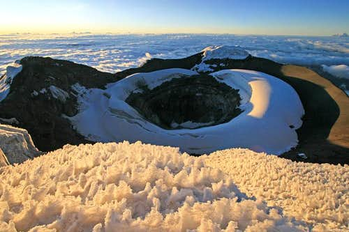 Cotopaxi Pic Crater